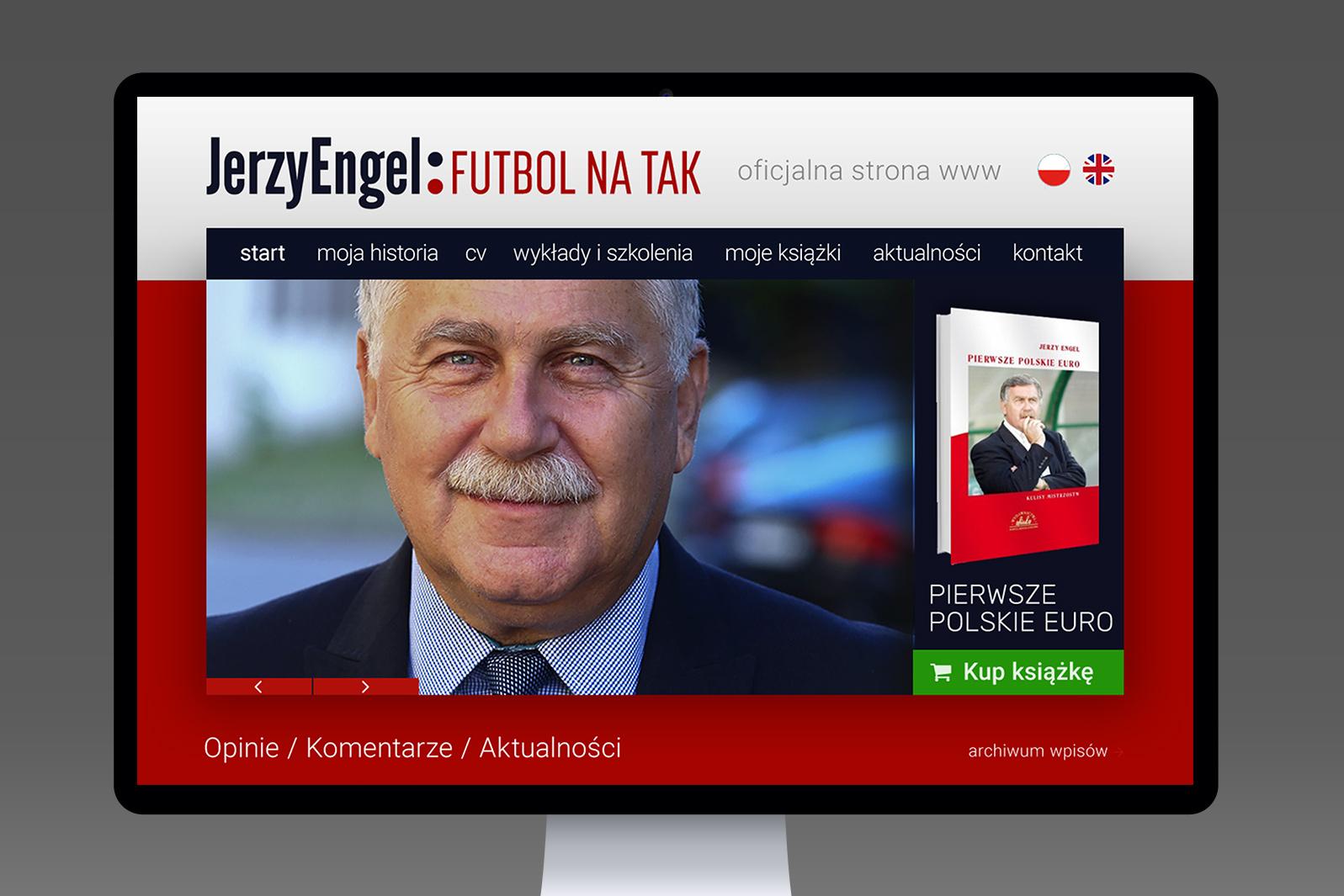 Projekt graficzny strony internetowej dla trenera piłki nożnej Jerzego Engela