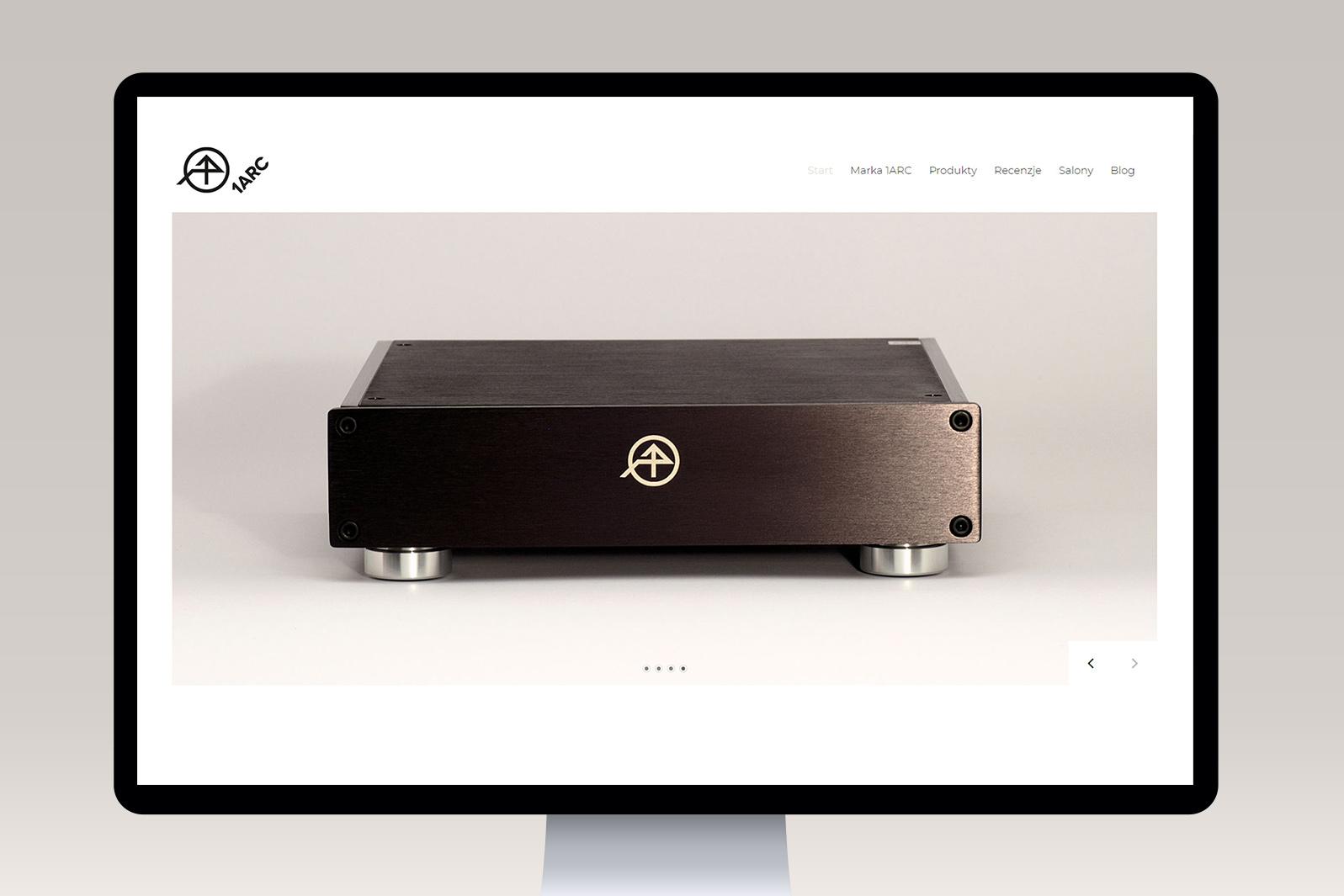Projekt iwdrożenie responsywnej strony internetowej dla marki audio 1ARC AUDIO
