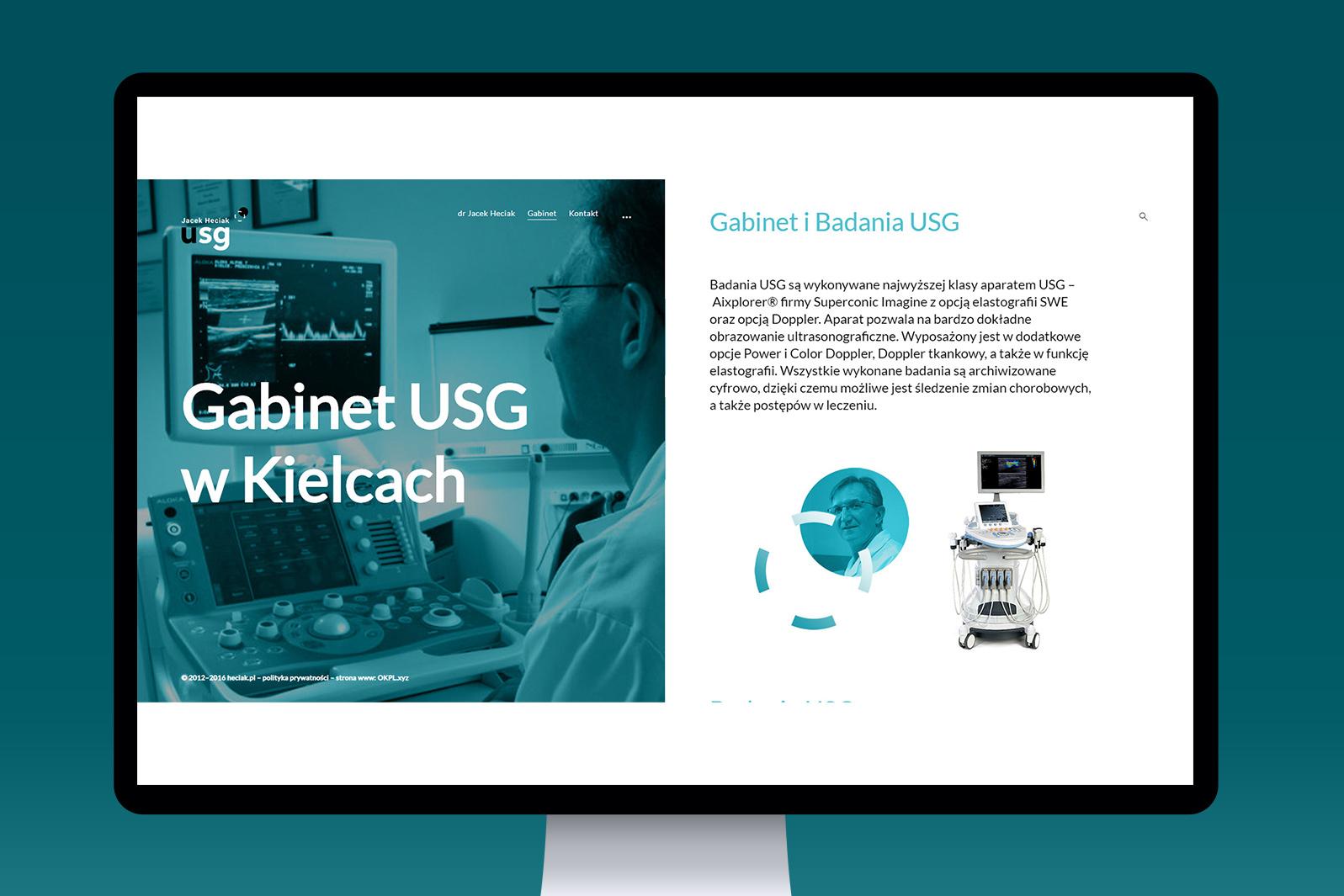 Projekt graficzny iwdrożenie responsywnej strony internetowej dla Gabinetu USG