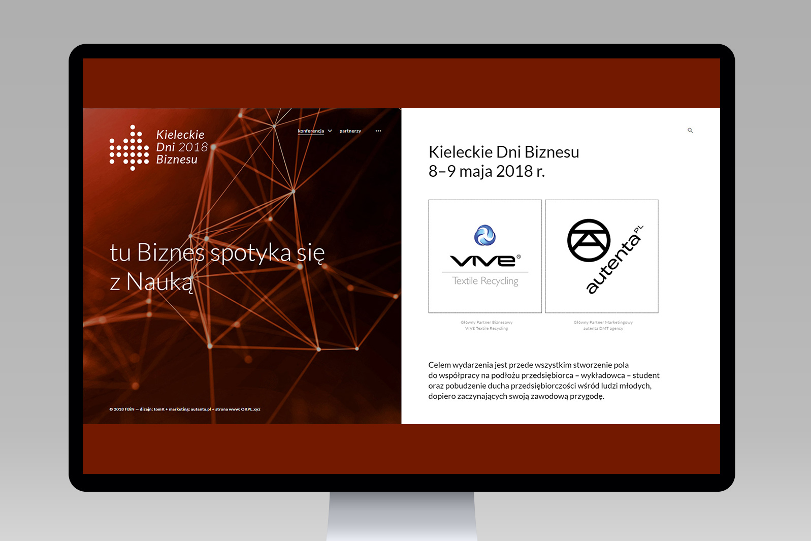 Projekt iwdrożenie responsywnej strony internetowej dla Kieleckich Dni Biznesu