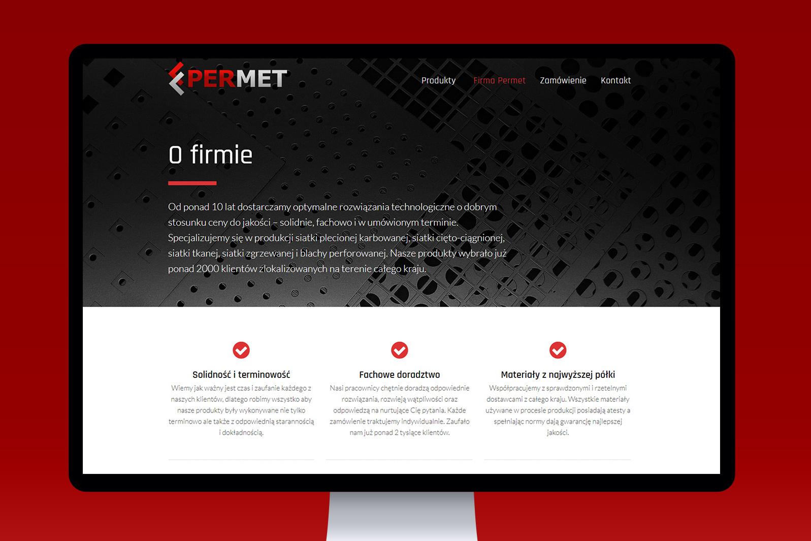 Projekt iwdrożenie responsywnej strony internetowej dla producenta siatki PERMET