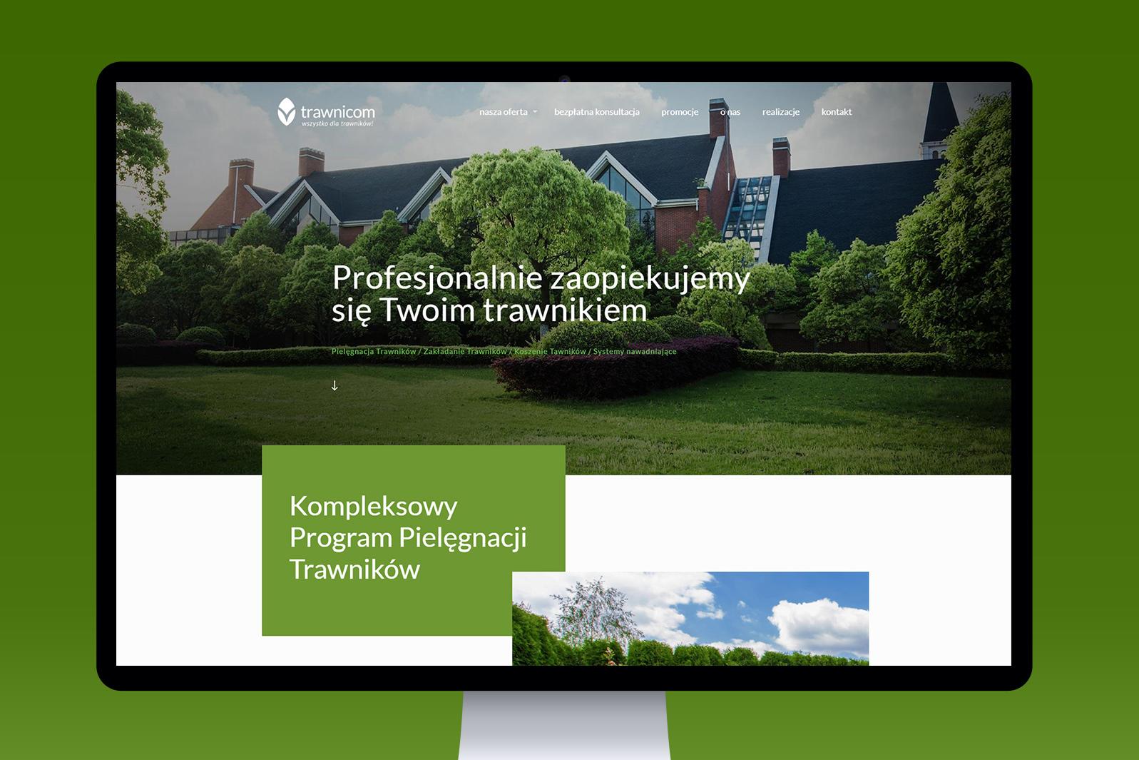 Projekt iwdrożenie responsywnej strony internetowej dla firmy ogrodniczej Trawnicom